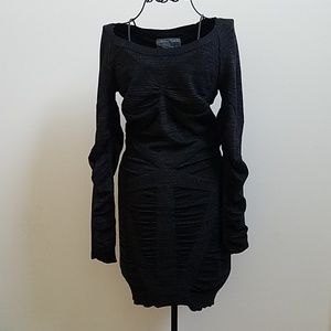 Women's Allsaints black sweater dress